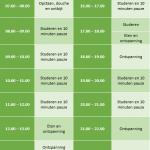 Ingevulde dagplanner examen